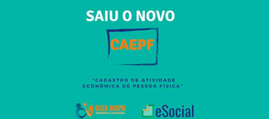 CAEPF Cadastro das atividade econômica da Pessoa Física desobrigada de CNPJ