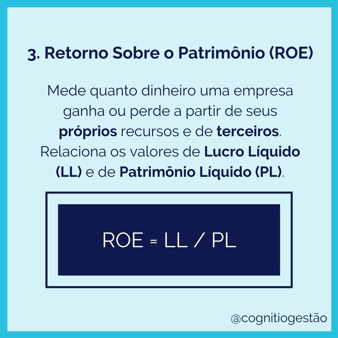ROE fórmula e descrição