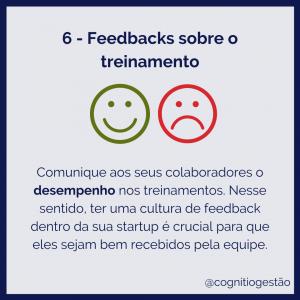 rotação de funções no feedback em treinamento para startups