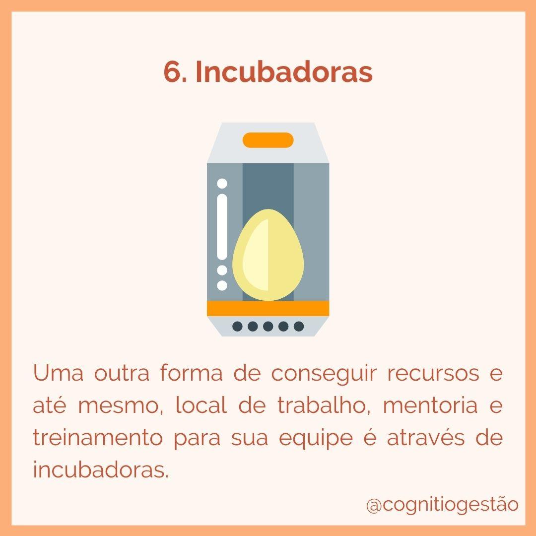 captação de recursos para startups via incubadoras